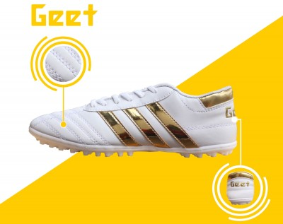 Giày bóng đá 3 Sọc Trắng-Vàng Gold